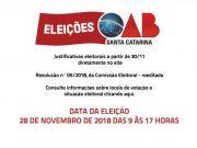 Eleições da OAB acontecem nesta quarta-feira