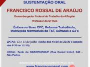 OAB Brusque promove curso intensivo de 'Recursos Trabalhistas e Sustentação Oral'