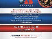 OAB Brusque comemora 41 anos da Subseção com festa para advogados e famílias