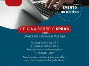 OAB Brusque realiza curso gratuito sobre o Eproc