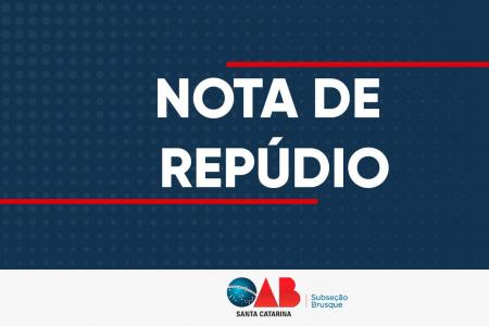 Nota de Repúdio sobre as agressões de policiais militares contra jovens em Guabiruba