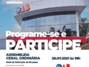OAB de Brusque realiza Assembleia Ordinária no dia 28 de julho