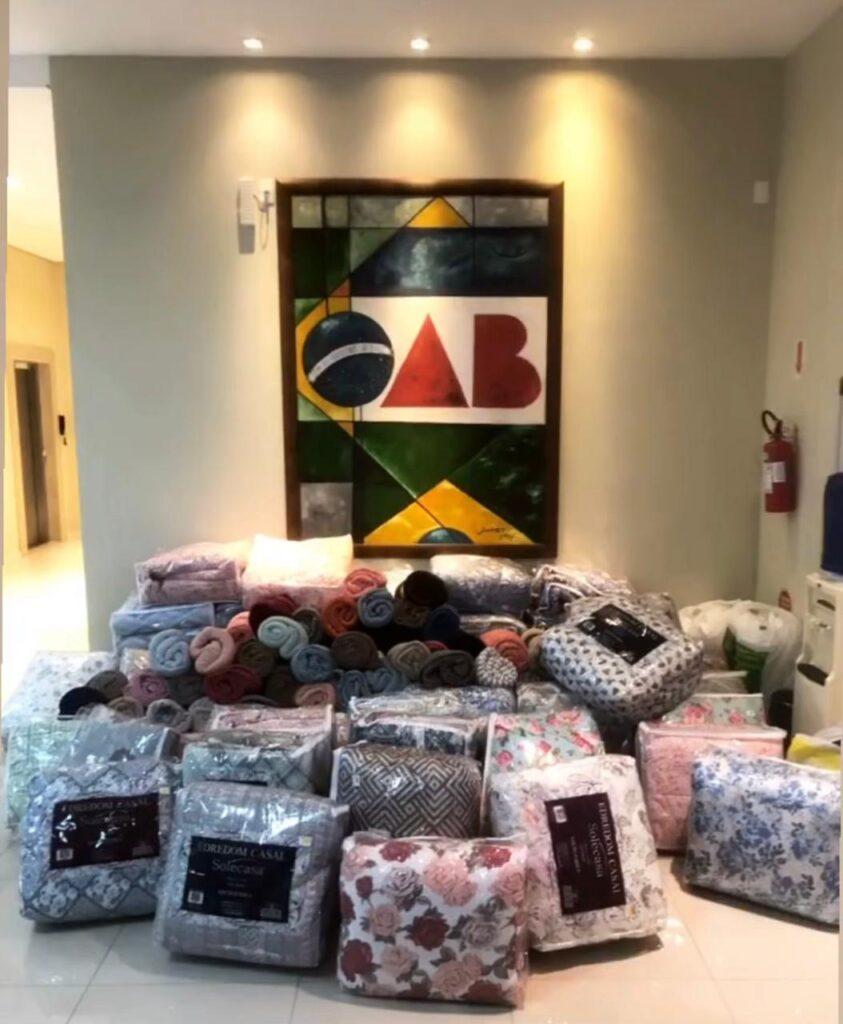 Campanha de inverno da OAB de Brusque beneficia famílias atendidas pela Ação Social da Paróquia Santa Teresinha